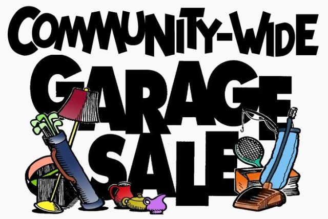 comm garage sale sign
